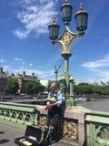 De Brug van Westminster in Londen Stock Foto