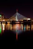 De brug van Zakim van Leonard Royalty-vrije Stock Afbeeldingen