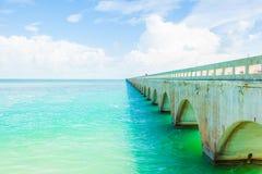 De Brug van zeven Mijl in de Sleutels van Florida Royalty-vrije Stock Afbeeldingen