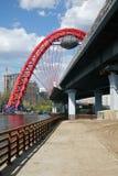 De brug van Zhivopisny in Moskou royalty-vrije stock foto