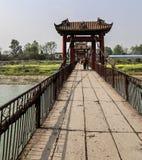 De brug in yuantongstad in Sichuan, China Royalty-vrije Stock Foto