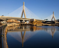De brug Zakim Royalty-vrije Stock Afbeeldingen