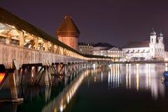 De brug Zwitserland van de kapel Stock Fotografie