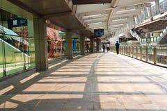 De brugaansluting van de hemel de wandelgalerij Bangkok, Thailand Royalty-vrije Stock Fotografie