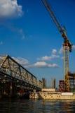 De brugbouw Royalty-vrije Stock Foto
