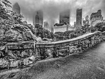 De brugCentral Park van Gapstow, de Stad van New York royalty-vrije stock fotografie