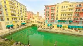 De bruggen Doha van Venetië stock videobeelden
