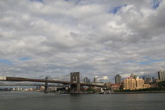De Bruggen van Brooklyn Stock Afbeeldingen