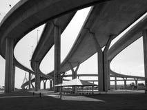 De bruggen van de autosnelweg Stock Foto's