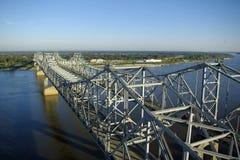 De Bruggen van de Rivier van de Mississippi Royalty-vrije Stock Afbeelding