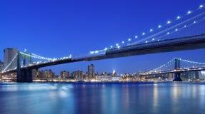De bruggen van de Stad van New York Stock Afbeeldingen
