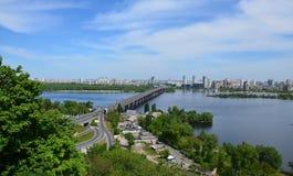 De bruggen van Kiev Royalty-vrije Stock Foto's