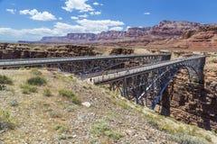De Bruggen van Navajo over de Rivier van Colorado dichtbij Pagina Arizona de V.S. Royalty-vrije Stock Foto
