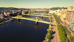 De bruggen van Pittsburgh stock footage