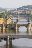 De bruggen van Praag Royalty-vrije Stock Foto's