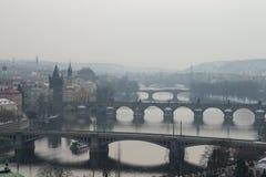 De bruggen van Praag Stock Afbeelding