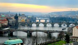 De bruggen van Praag Royalty-vrije Stock Foto