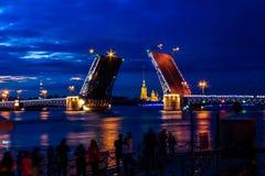 De bruggen van sankt-Peterburg Stock Foto