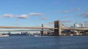 De bruggen van de Stad van New York stock footage