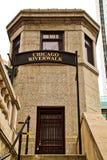 De brughuis van Chicago langs riverwalk Royalty-vrije Stock Afbeelding