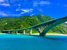 De brugmening Okinawa van het Akaeiland Royalty-vrije Stock Afbeeldingen