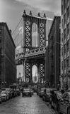 De Brugmening van Brooklyn van Washington St Stock Foto's