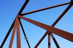 De brugstructuur van het staal stock foto