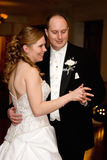 De bruid & de Bruidegom dansen eerst Stock Afbeeldingen