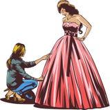 De bruid in de kleedkamer Royalty-vrije Stock Afbeelding