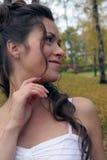 De bruid in een Birchwood Stock Afbeeldingen