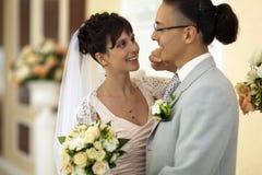 De bruid en de bruidegom Stock Afbeeldingen