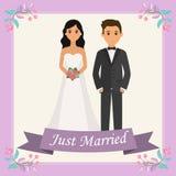 De bruid en de bruidegom royalty-vrije illustratie
