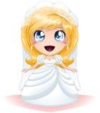 De bruid kleedde zich voor Haar Dag van het Huwelijk Stock Foto