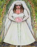 De Bruid van Curvy stock illustratie