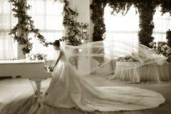 De bruid van de piano Stock Afbeeldingen