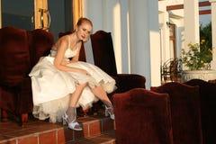 De bruid van de zonsondergang royalty-vrije stock foto
