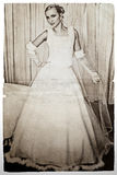De bruid van Grunge Stock Foto's