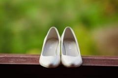 De bruid van huwelijksschoenen Royalty-vrije Stock Afbeeldingen