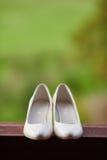 De bruid van huwelijksschoenen Royalty-vrije Stock Afbeelding