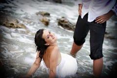 De bruid van Neptunus (afval de huwelijkskleding) Stock Afbeeldingen