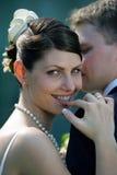 De bruid van Smiliing Royalty-vrije Stock Afbeeldingen