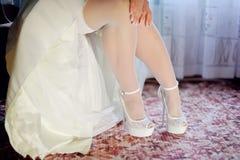 De bruid zet aan Royalty-vrije Stock Foto's