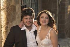 De bruidegom en de bruid. stock afbeelding