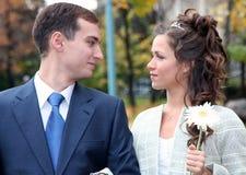 De bruidegom en de Bruid Stock Foto