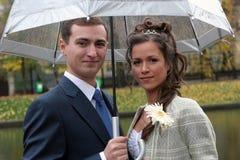 De bruidegom en de Bruid Stock Afbeelding