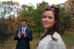 De bruidegom en de Bruid Royalty-vrije Stock Afbeelding