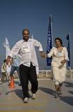 De bruidegom en de bruid van de winnaar Royalty-vrije Stock Foto