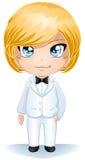 De bruidegom kleedde zich in Witte Reeks Stock Foto