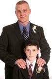 De bruidegom van de vader en zoonsgetuige Stock Fotografie