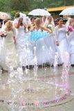 De bruiden paraderen 2010 stock foto's